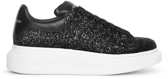 Alexander McQueen Black glitter classic sneakers