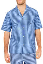 Nautica Woven Button-Up Sleep Shirt