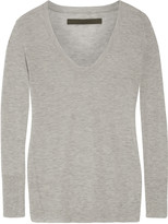 Enza Costa Heathered cashmere sweater