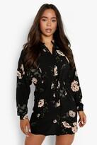 boohoo Floral Shirt Dress