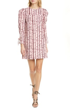 Ulla Johnson Manon Tie Dye Long Sleeve Tunic Dress