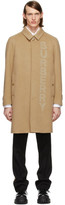 Burberry Tan Single Breasted Coat