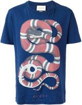 Gucci snake print T-shirt - men - Cotton - S