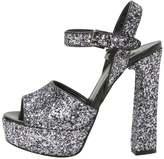 Karl Lagerfeld SOIREE OPEN GLITTER High heeled sandals heavy glitter gunmetal
