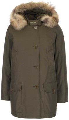 Woolrich Padded Fur Hooded Long Coat