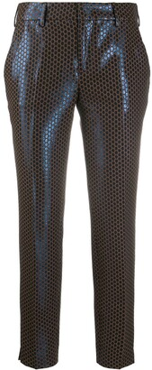 Pt01 Metallic Polka Dot Cropped Trousers