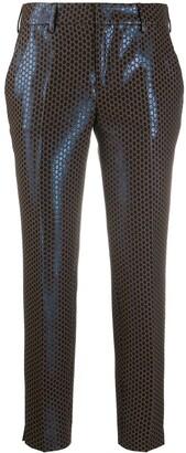 Pt01 Metallic Polka Dot Cropped Trousers