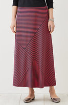 J. Jill Bias-Stripes Knit Maxi Skirt
