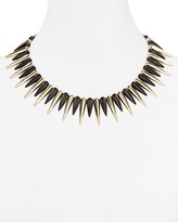 """Cara Accessories Black Spike Necklace, 14"""""""