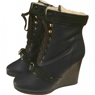 Chloé Navy Leather Ankle boots