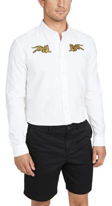 Kenzo Double Jumping Tiger Button Down Oxford Shirt