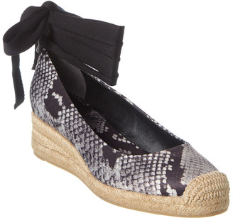 Tory Burch Heather 40Mm Satin Wedge Espadrille
