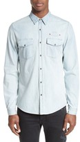 The Kooples Men's Embroidered Denim Shirt