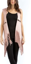 Rose Faux Suede Cutout Vest