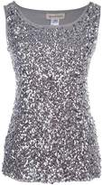 Anna-Kaci Sparkle and Shine Glitter Sequin Embellished Tank Top