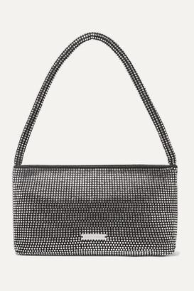 Loeffler Randall Marleigh Crystal-embellished Satin Shoulder Bag - Black
