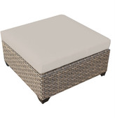 TK Classics Monterey Ottoman with Cushion