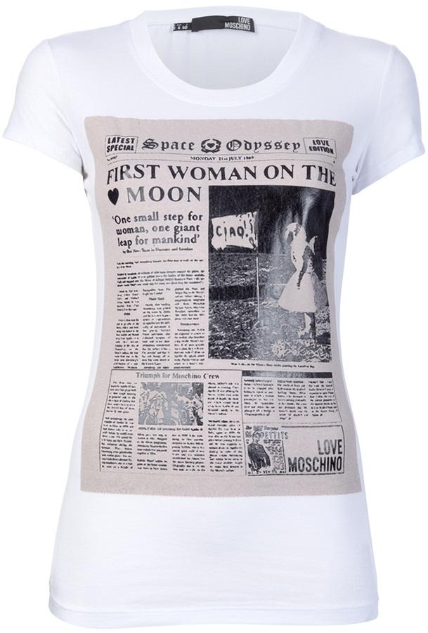 Love Moschino 'Newspaper' print t-shirt