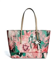 GUESS Factory Women's Peak Tropical Print Tote