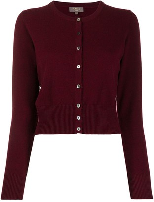 N.Peal Long Sleeve Cropped Cashmere Cardigan