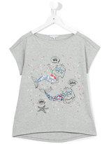 Little Marc Jacobs mermaid cat T-shirt - kids - Cotton/Modal - 14 yrs