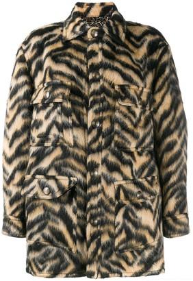 Etro Animal-Print Knitted Jacket