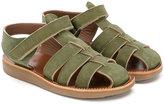 Pépé woven sandals - kids - Nubuck Leather/Leather/rubber - 22