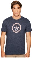 Original Penguin Tri-Blend Distressed Circle Logo Tee Men's T Shirt