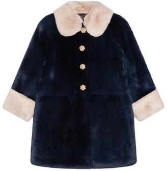 Dolce & Gabbana Kids Rabbit Fur Coat (8-12 Years)