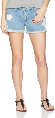 James Jeans Women's Babby Beau Patched Boyfriend Shorts in Star Bright