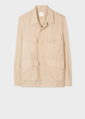 Paul Smith Men's Tan Organic Cotton Shirt Jacket