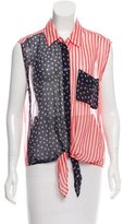 Equipment Silk American Flag Blouse
