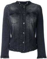 7 For All Mankind collarless denim jacket - women - Cotton/Polyester/Spandex/Elastane - XS