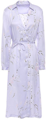 Equipment Fabienne Floral-print Silk-blend Satin Shirt Dress