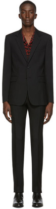 Saint Laurent Black Gabardine Suit