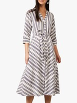 Phase Eight Sansa Stripe Dress, Navy/Ivory