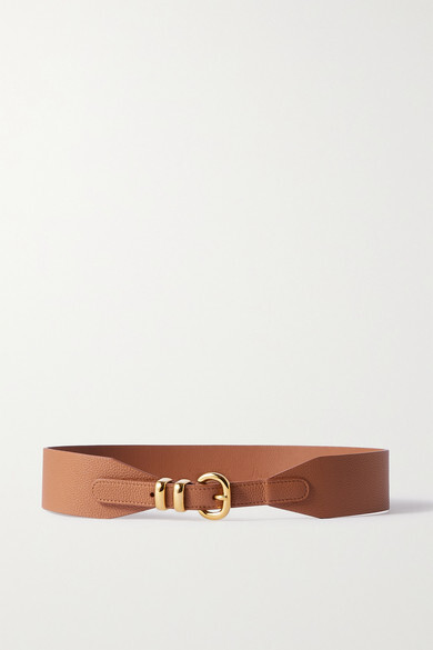 Thumbnail for your product : Andersons Textured-leather Waist Belt - Tan