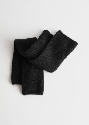 And other stories Long Fingerless Wool Blend Gloves