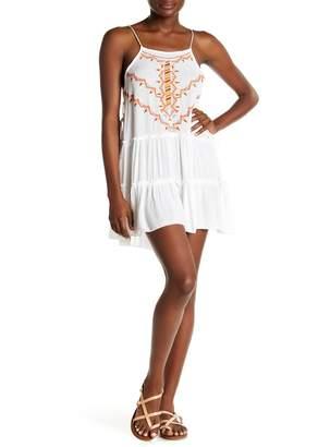 BOHO ME Sleeveless Embroidered Short Dress