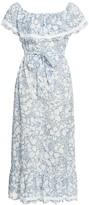 Marysia Swim Lemnos Off-The-Shoulder Floral Flounce Dress