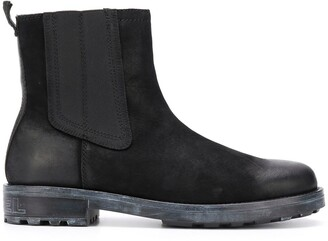 Diesel Round Toe Ankle Boots