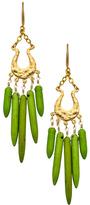 David Aubrey Green Turquoise Spike Chandelier Earrings