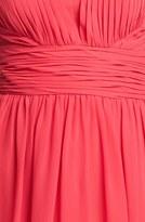 Aidan Mattox Pleat Chiffon Fit & Flare Dress