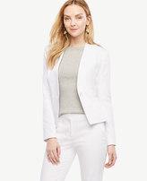 Ann Taylor Petite Cotton Sateen Collarless Jacket