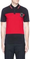 McQ Colourblock jersey polo shirt