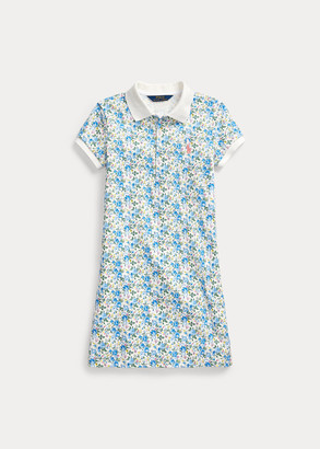 Ralph Lauren Floral Stretch Mesh Polo Dress