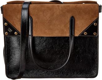 Fendi Flip Large Leather & Suede Shoulder Bag