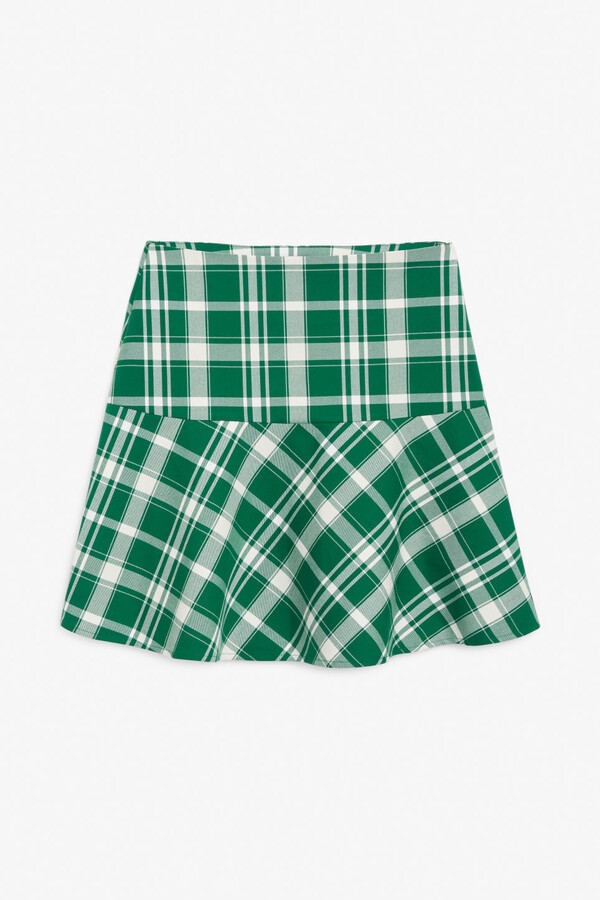 Monki Flounce hem mini skirt