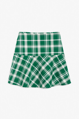 Monki Flounce hem mini skirt