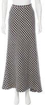 Michael Kors Wool Houndstooth Maxi Skirt